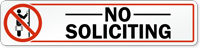 No Soliciting with Symbol Label