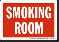Oklahoma Smoking Room Label