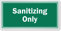 Sanitizing Only Restaurant Hygiene Label