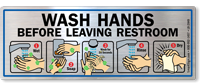 Wash Hands Before Leaving Restroom Mirror Decal