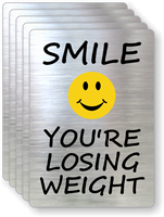Smile You're Losing Weight Fitness Center Label