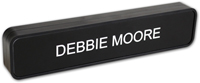 Custom Two-Sided Teller Sign with Black Frame