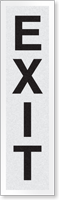 New York City Fire Emergency Markings EXIT Reflective Label, 1 inch