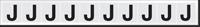 New York City Fire Emergency Markings Letter J Reflective Label, 1 inch