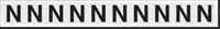New York City Fire Emergency Markings Letter N Reflective Label, 1 inch