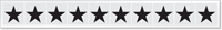 New York City Fire Emergency Markings Star Reflective Label, 1 inch
