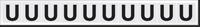 New York City Fire Emergency Markings Letter U Reflective Label, 1 inch