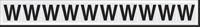 New York City Fire Emergency Markings Letter W Reflective Label, 1 inch