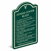 Add Custom Fitness Center Rules PermaCarve Sign
