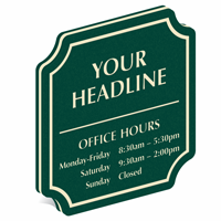Add Custom Office Hours PermaCarve Sign