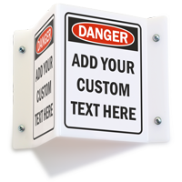 Custom Projecting Danger Sign