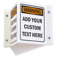 Custom Projecting Warning Sign