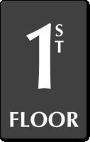 1st Floor Engraved Sign