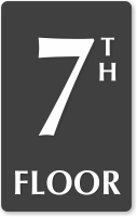 7th Floor Engraved Sign