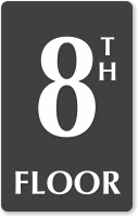 8th Floor Engraved Sign