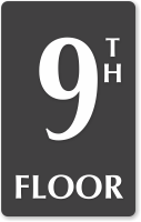 9th Floor Engraved Sign