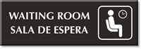 Bilingual Waiting Room Engraved Sign
