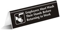 Employees Must Wash Their Hands Sign