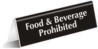 Food Beverage Prohibited Sign