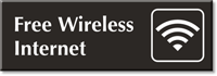 Free Wireless Internet Engraved Door Sign with Graphic
