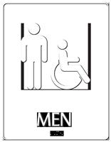 Men Restroom Handicap Symbol Sign