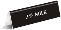 Milk Office Tabletop Tent Sign