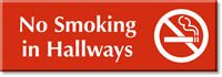 No Smoking In Hallways Sign