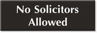 No Solicitors Allowed Select-a-Color Engraved Sign