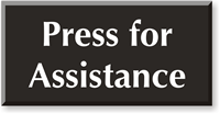 Press For Assistance Select-a-Color Engraved Sign