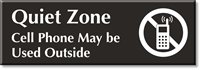 Quiet Zone, Cell Phone Used Outside Sign