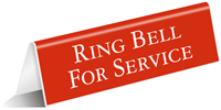 Ring Bell for Service Sign