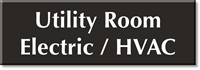 Utility Room Electric / HVAC Select-a-Color Engraved Sign