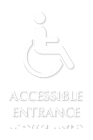 Accessible Entrance Tactile Touch Braille Door Sign