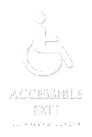 Accessible Exit Tactile Touch Braille Door Sign