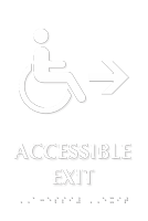 Accessible Exit with Right Arrow Braille Sign