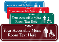 Accessible Mens Room Symbol Sign