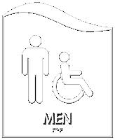 Pacific - Men Restroom Sign