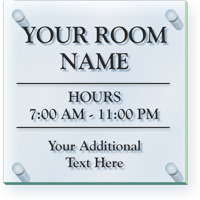 Add Custom Room Name And Additional Text ClearBoss Sign