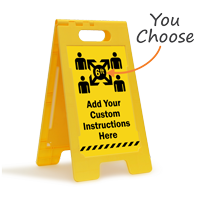 Add Your Custom Social Distancing Instructions FloorBoss Sign