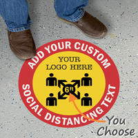 Add Your Custom Social Distancing Text Floor Sign