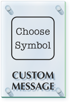 Add Your Message Choose Symbol Custom ClearBoss Sign