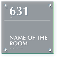 Add Your Room Name And Number Custom ClearBoss Sign