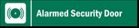 Alarmed Security Stacking Magnetic Door Sign