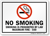 Smoking Is Prohibited By Law Sign