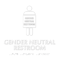 Gender Neutral Restroom Braille Sign