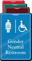 Handicap Gender Neutral Restroom ShowCase Sign