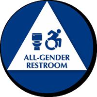All-Gender Restroom Sign, Toilet, Updated ISA Symbol