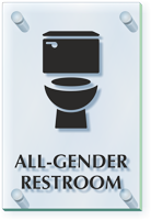 All Gender Restroom ClearBoss Sign
