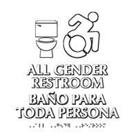 All Gender Restroom Updated ISA Symbol Sign