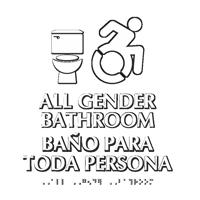 All Gender Bathroom Updated ISA Symbol Sign